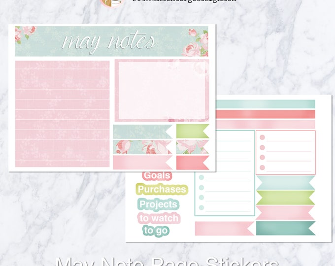Notes Page Stickers - May - Perfect For Planner Note Pages!