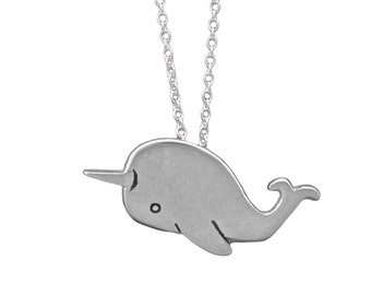 Narwhal Necklace - Pewter Narwhal Pendant