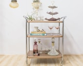 Three Tiered Dessert Stand / Candy Dish, Lilac and Gold Ceramic