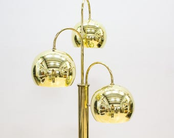 Brass / Gold Bubble Dome Lamp / Arc Lamp, Vintage Modern Glam