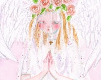 little angel - original painting