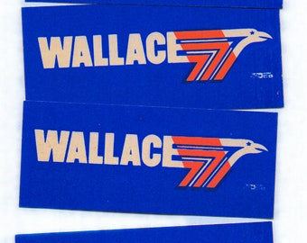 Wallace campaign stickers, approxiamately 80 count, mini bumper stickers, graphic arts of the 1960s, political collectibles