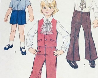 1975 Boy's Shirt, Vest and Bellbottoms pattern