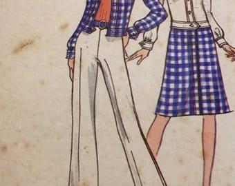 Vintage Vogue 8282 Misses Jacket, Skirt and Pants