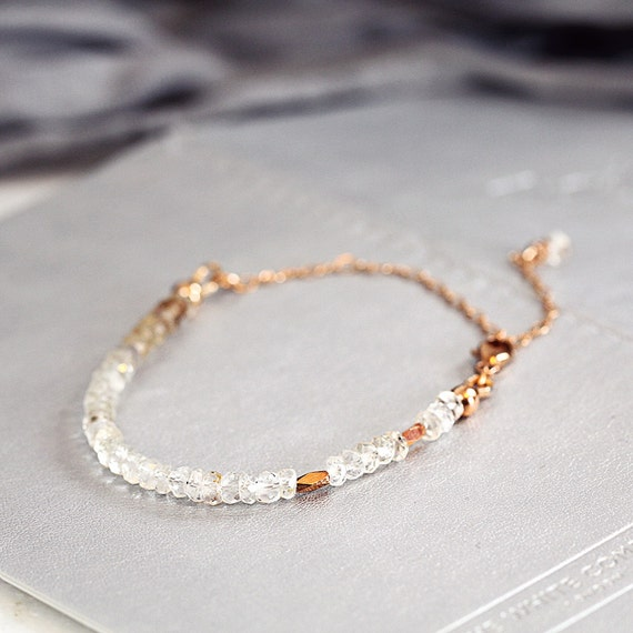 White Topaz Bracelet - November Birthstone Jewellery
