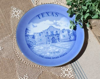 Texas State plate Souvenir plate The Lone Star Plate The Alamo