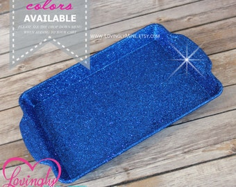 Glitter Tray - Fine Royal Blue - Sweets Dessert Table Decorations - Birthday, Baby Shower, Bridal Shower, Wedding - Additional Colors Avail