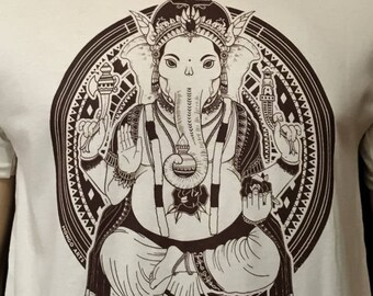 Rose Ganesha T shirt / Zen Style / Mongo Arts / Buddhist / Yoga / Namaste / Mandala / Womens Bella Junior Fit Lot Style T Shirt