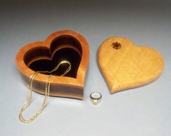 "Mothers Day Gift, Heart Shaped Box,Wedding Gift, Birthday Present, Ring Box, Jewelry Box, Box 6""x6""x 2 3/4"""
