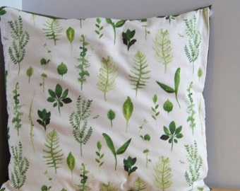 Spring Leaves Throw Pillow Cover