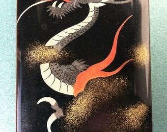 Japanese Lacquer Box, Dragon Design