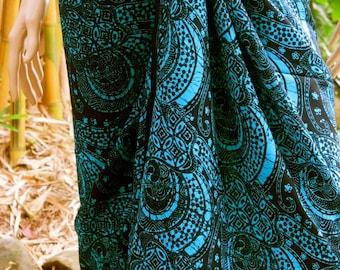 Male/ Female Blue Sarong, Wrap, Pareo