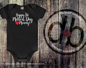 Mother's Day Bodysuit, Newborn Baby Girl, Newborn Baby Boy, Happy First Mother's Day, New Mommy, New Baby Shower Gift, First Mother's Day