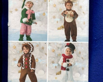 Simplicity 2537 Babies & Toddlers Christimas Holiday Costumes Pattern Size 6 Months to 4 years UNCUT