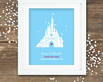 Disneyland Paris Proposal Print Engagement Gift Printable