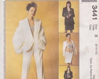 Sophisticated Suit Pattern McCalls 3441 Sizes 8 - 12 Uncut