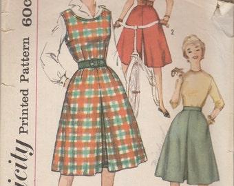 60s Split Skirt & Jumper Pattern Simplicity 3711 Size 14