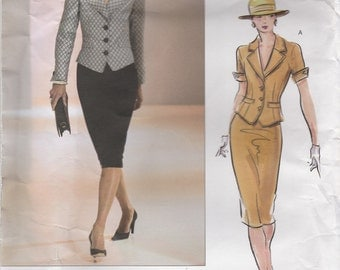 Tailored Jacket and Skirt Pattern Vogue Couture 2629 Sizes 12 - 16 Uncut