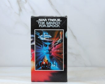 Vintage Star Trek The Search For Spock, VHS Tape, 1984, Paramount Pictures, William Shatner, Captain Kir, Leonard Nimoy, Spock