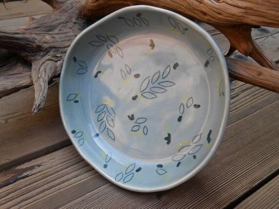 Leafy Ceramic Dish