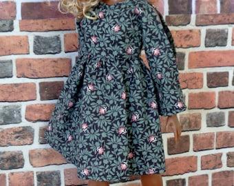 Floral Vintage Print Baby doll Dress for Barbie, Curvy Barbie or similar fashion doll