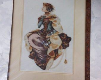 Mirabilia Cross-Stitch ~ Autumn Queen  ~ 90s Nora Corbett Cross-Stitch Chart ~ Still Sealed