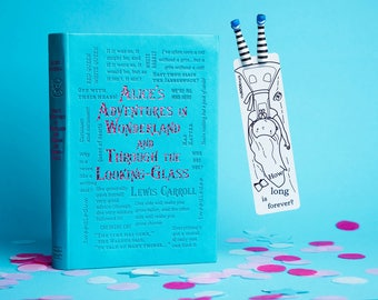 MYBOOKMARK // Alice in Wonderland babe bookmark //  Handmade and crafted with love // Unique and creative gift // Back to school gift //