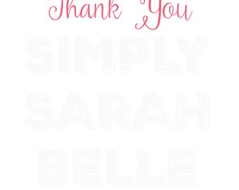 Thank You Card // Thank You Note // Instant Download  **PRINT AT HOME**