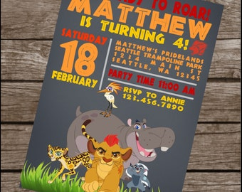 LION GUARD INSPIRED Happy Birthday Party or Baby Shower Invitations Set of 12 {1 Dozen} - Party Packs Available