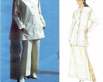 Issey Miyake Vogue 1541. A-Line Jacket, A-Line Skirt, Straight Leg Pants Pattern. Uncut, Factory Folded Plus Sizes 18-20-22. Bust 40-42-44