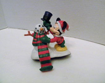 Mickey Mouse and Snowman Stocking Hanger Mickey Unlimited Santa's Best Disney