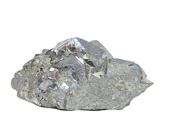 Skutterudite Rare Steel Gray Metallic Crystal, Cobalt Nickel Ore Mineral Specimen, Geological sample mined in Morocco Rock and Mineral Curio