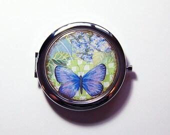 Butterfly Mirror, Pocket mirror, Floral mirror, compact mirror, mirror, floral design, Flower Mirror, Butterfly Mirror (3080)