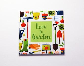 Love to Garden Magnet, Fridge magnet, loves gardening, Bright Colors, Love to garden, spring garden, mothers day, gardening magnet (7281)