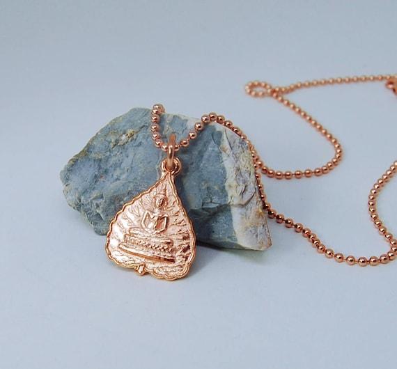 Rose Gold Buddha  Necklace |  Yoga Jewelry