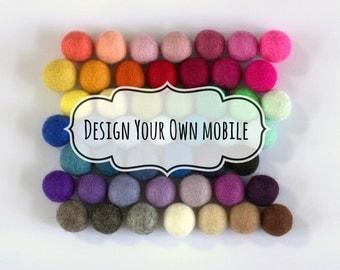 Design Your Own Felt Ball Mobile