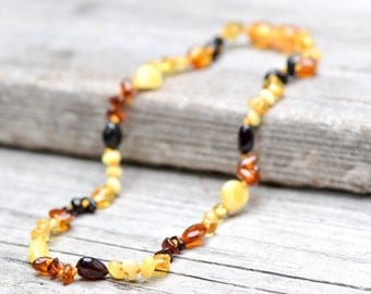 FREE SHIPPING!!! Baltic amber teething necklace for babies
