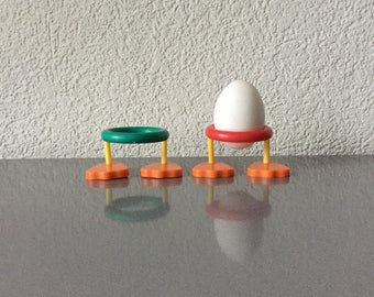 Two Vintage 60s Swiss Mod Egg Cup