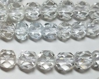 Rock Crystal Quartz Micro Faceted Ball Beads 6mm to 7mm