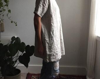 Artist Tunic in Oatmeal Linen