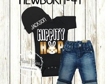 Boy Easter Shirt, Baby Boy Easter, Easter Boy, Easter Baby Outfit,First Easter Outfit Boy 2T 3T 4T Personalized Hat-BODYSUIT OR T-Shirt