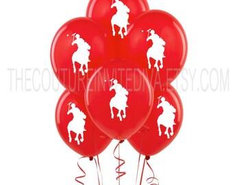 Polo Prince Balloons |  Polo Balloons | Polo Player Balloons | Horseman Balloons | Red | Blue | Green | Orange
