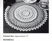 "Vintage Crochet Pattern ""Midnight Sun"" - from Leisure Arts 'Elegant Crocheted Doilies' Leaflet No 972"