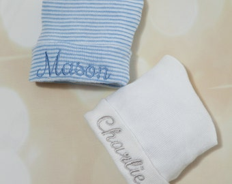 Hospital Baby Boy Newborn Hat Personalized  Newborn Baby Boy Hospital Hat