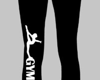 Vertical Gymnast Leggings For Girls