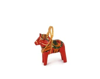 1950s Dala Horse by Nils Olsson Good Luck Wooden Carving Mora Sweden MCM decor
