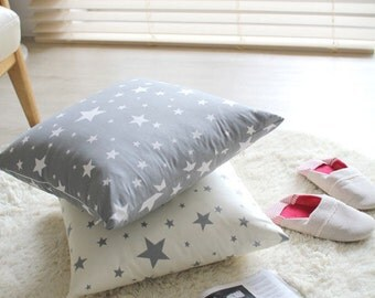 Gray Stars Oxford Cotton Fabric - Fabric By the Yard 96492