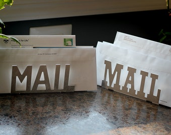 kitchen counter mail organizer rustic metal letters etsy 6634
