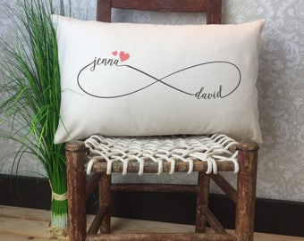 Couples Infinity Pillow, Custom Infinity Symbol Pillow, Valentines Day Gift, Decorative Pillow, Wedding Gift, Home Decor