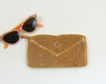 Vintage Clutch | Iridescent Beaded Clutch by La Regale| 1950s